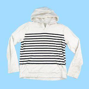 J Crew Hooded Sweatshirt Men Medium White Pullover